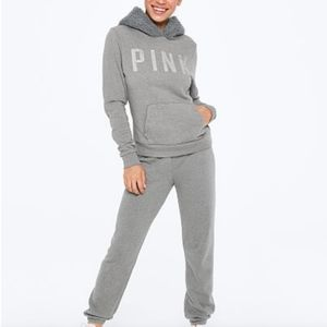 VS PINK Sherpa Hoodie and Jogger Gift Set sz LG